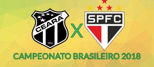 Ceará x São Paulo ao vivo neste domingo