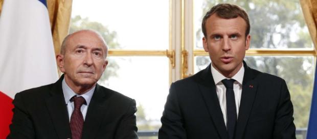 Emmanuel Macron et Gérard Collomb, chacun dans son rôle | L'Opinion - lopinion.fr