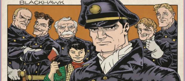 Imagen del comic original de Blackhaw