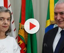 Ministra Cármen Lúcia e presidente Michel Temer