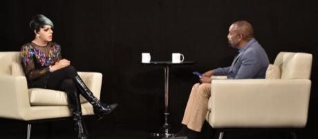 Trans artist Sham Ibrahim sat down with 'The Fallen State's' Jesse Lee Peterson. [Image via Mark Stout Photography, used with permission]