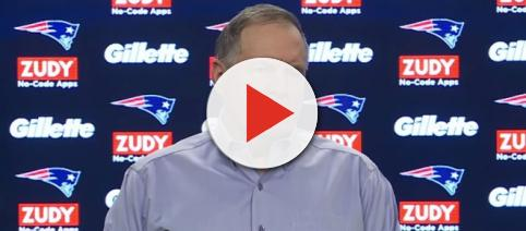 Bill Belichick answers questions on the team's QB plans at the draft [Image via NFL World / YouTube Screencap]
