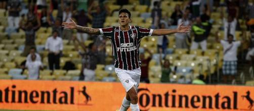Artilheiro do Fluminense na temporada, Pedro nega ter recebido proposta de futebol português (Foto: Reprodução/Lancepress)