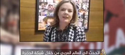 Gleisi Hoffmann(PT) pede apoio aos árabes