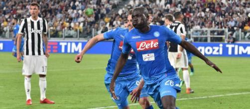 L'esultanza di Koulibaly dopo il gol allo Stadium - Fonte foto: SSC Napoli official Facebook account.