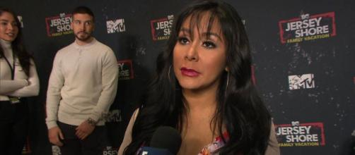 Nicole 'Snooki' Polizzi talks to E! News on the red carpet. [Photo source: E! News/YouTube]