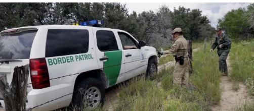 There are Texas National Guard soldiers helping to guard the US-Mexican Border. [image source: CBS Evening News- YouTube]