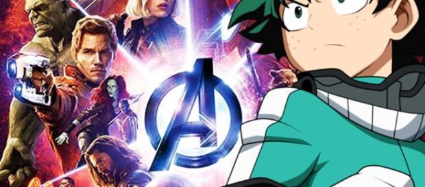 El clip de mi héroe Academia x Vengadores: Guerra del Infinito se abre, como de costumbre, con el preámbulo de todo poder del estudiante de 1-A.
