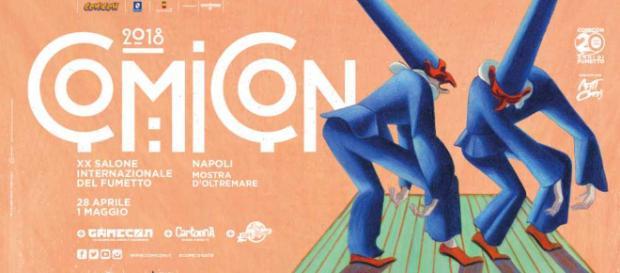 La locandina del Comicon 2018, il ventesimo Salone Internazionale del Fumetto di Napoli