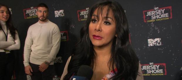 Nicole 'Snooki' Polizzi talks to E! News on the red carpet. [Photo source: E! News/YouTube]