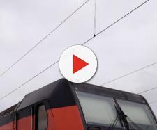 Locomotore ferroviario di treno merci