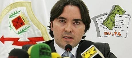 Martín Presa, en una rueda de prensa.