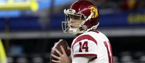 A number of NFL teams want to draft the next star quarterback this week, including the Buffalo Bills. [Image source: CBS Sports/YouTube]