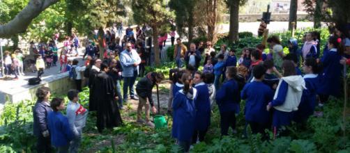 Al termine della cerimonia piantato nei giardini un cipresso simbolo del Santuario
