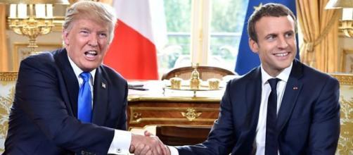 Donald Trump ed Emmanuel Macron nello studio ovale