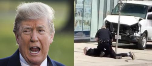 Donald Trump on Toronto attack, via Twitter