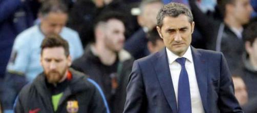 Ernesto Valverde em situação delicada no Barça
