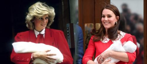 Kate Middleton paid homage to Princess Diana with her outfit during first public appearance with baby no. 3. YouTube/E!News