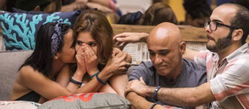 Mahmoud, Gleici, Ayrton e Ana Clara no BBB18