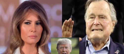 Melania Trump, George H.W. Bush, via Twitter