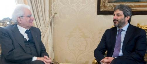 Roberto Fico a colloquio con il presidente della Repubblica, Sergio Mattarella