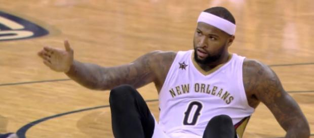 Could DeMarcus Cousins end up moving to a new team via a sign-and-trade? [Image via NBA/YouTube]