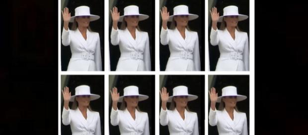 Melania Trump's hands trend on Twitter. - [Photo: VOA News / YouTube screenshot]