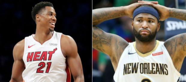 Potential trade candidates Hassan Whiteside and DeMarcus Cousins. [Image credit: Dong Time, Take News/ Flickr]