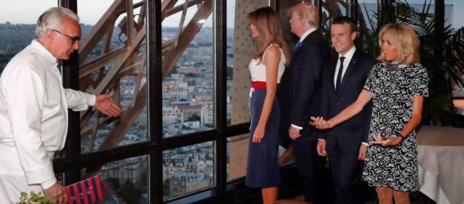 Melania Trump planea el menú de la cena para los Macrons