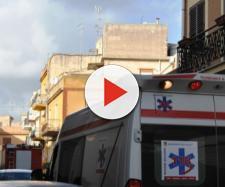 Ambulanza dei soccorsi sopraggiunta