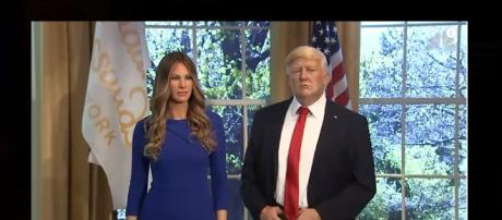 Melania Trump looks like who in wax? [Photo via NBC News/Youtube screenshot]