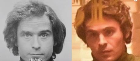 Zac Effron is eerily similar to the serial killer Ted Bundy. [image source: TMZ - YouTube]