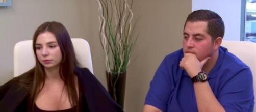 Anfisa and Jorge from a screenshot of '90 Day Fiance'