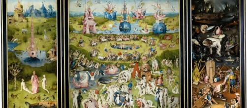 El jardín de las delicias, Tríptico abierto, 1503-1505.Museo del Prado, Madrid.. wikipedia.org.