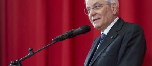 Il Presidente Sergio Mattarella al teatro di Casoli in occasione della cerimonia per il 73° anniversario della Liberazione.