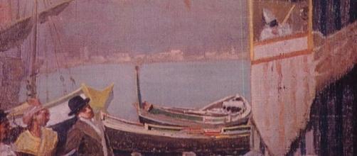 Il teatrino delle guarattelle al Molo di Napoli, opera di ignoto pittore conservata nella sezione teatrale del Museo di San Martino (Foto: web)