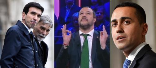 Maurizio Martina, Matteo Salvini e Luigi Di Maio