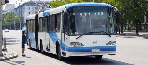 Pyongyang Trolley Bus (Image credit – Clay Gilliland, Wikimedia Commons)