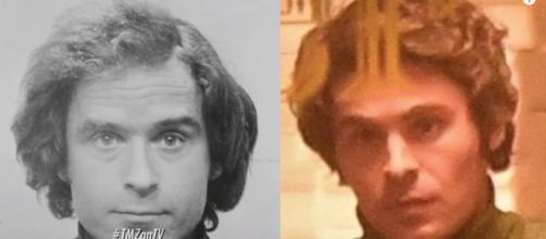 Zac Effron is eerily similar to the serial killer Ted Bundy. [image source: TMZ - YouTube]