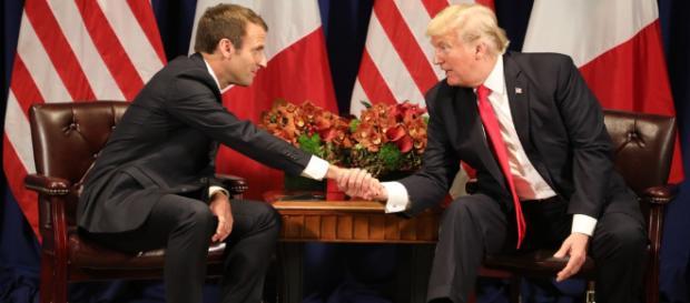 Macron avec des résultats en demi-teinte, désaccord avec Trump et ovation au Congrès
