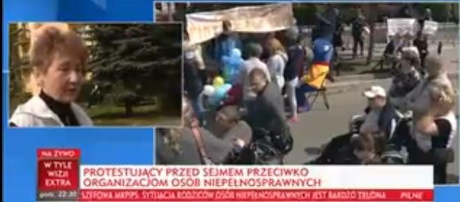 Matka osoby niepełnosprawnej ostro o protestujących w Sejmie