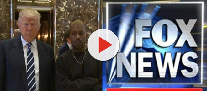 Fox News host fights back laughter on report that Trump and Kanye West are BFFs