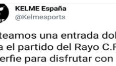 Indignación de rayistas en Twitter con la marca deportiva que viste al club