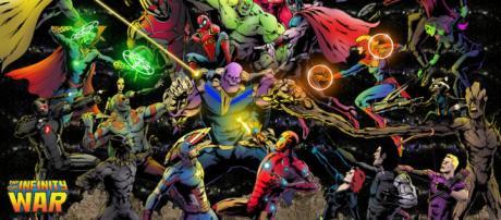 Avengers: Infinity War (Vengadores: Infinity War en España) es una película estadounidense de superhéroes de 2018.