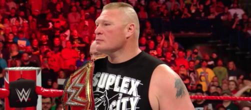 Brock Lesnar puts his WWE Universal title on the line at the 'Greatest Royal Rumble' on Friday in Saudi Arabia. [Image via WWE/YouTube]
