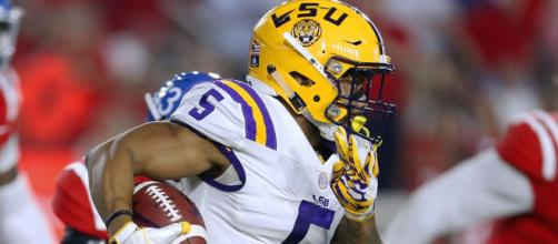 Derrius Guice could be on the Lions watch list at the 2018 NFL Draft. [Image via Elite Sports/YouTube]