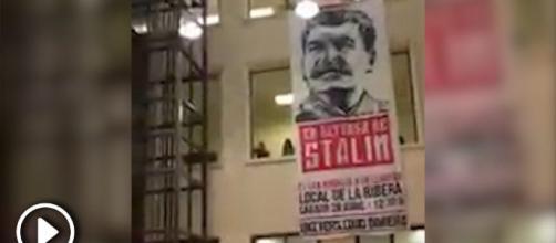 La Universidad de Granada cuelga pancarta de Stalin