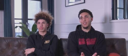 LaMelo and Liangelo Ball have returned home from Lithuania with two games left on Vytautas' schedule. [Image via Hoop Factory/YouTube]