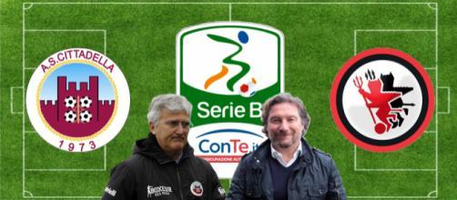 Roberto Venturato e Giovanni Stroppa, allenatori di Cittadella e Foggia