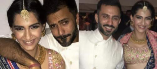 Sonam Kapoor and her business-man boyfriend Anand Ahuja (Image credit: Sonam KapoorTwitter)